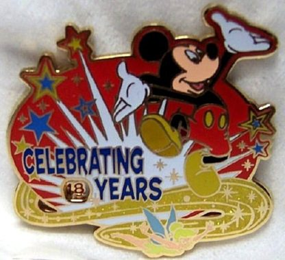 Disney Celebrating Years Pin Mickey Tink Spinner On 18 New Front