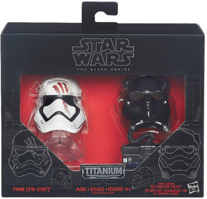 Star Wars Black Series Die-Cast Metal Helmets TIE FIGHT PILOT ELITE /& POE DAMERO