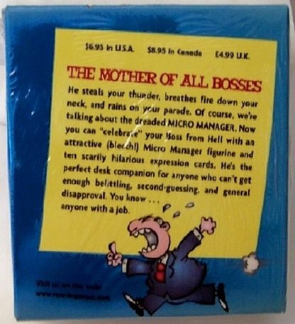 Miro Manager Original Boss From Hell Mini Book Kit New Box Back