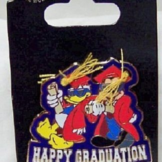 DISNEY MICKEY DONALD GRADUATION PIN NEW ON CARD FRONT
