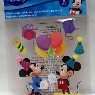 DISNEY MICKEY MINNIE BIRTHDAY DIMENSIONAL STICKERS #6 FRONT