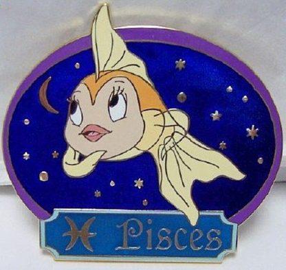 Disney Jumbo Horoscope Zodiac Pisces Cleo LE 300 Pin New Front