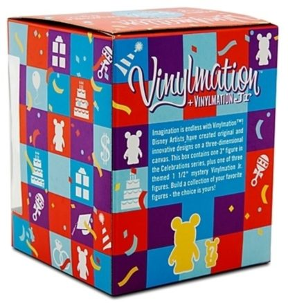 Disney Visit Celebrations Vinylmation 3 Inch Figure + Jr New In Box Back
