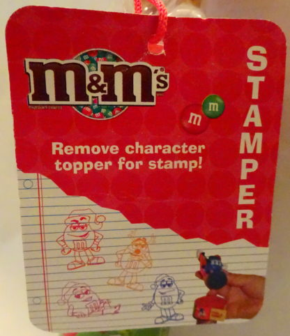 M&M'S Red 2009 Stickers + Chritmas Stamper New With Tag Closeup Of Tag 2