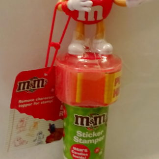 M&M'S Red 2009 Stickers + Chritmas Stamper New With Tag Front