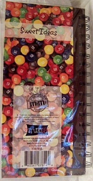 M&M'S Sweet Ideas Collectible Spiral Journal Back