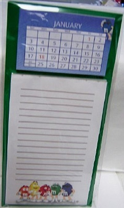 M&M's Listpad 2010 Calendar Magnetic New In Pack Front