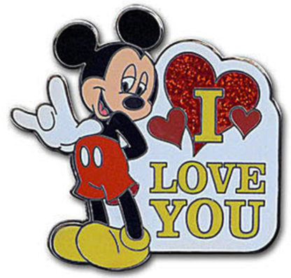 Mickey ASL Love Pin Disney Parks New Front
