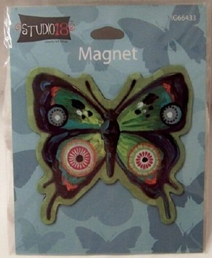 Butterfly Collectible Flat Magnet New In Pack Back