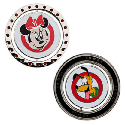 Disney Mickey Mouse Club Limited Edition 500 Pin Set -Minnie and Pluto Out Of Box Character Sides Stock Photo