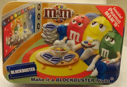 M&M'S Blockbuster Collectible Tin New Top