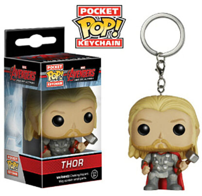 Thor Funko Pocket Pop! Bobble Hero Keychain New In And Out Of Box Stock Photo
