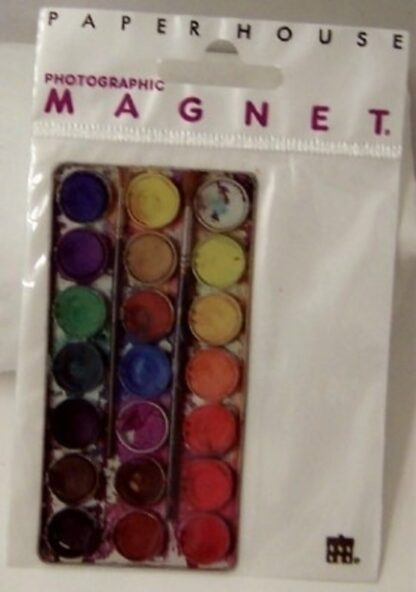 Watercolor Paintbox Flat Magnet Photographic New In Pack Front