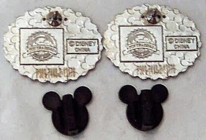 Wedding Ear Hat Pins #2 Disney Mr. Groom Mrs. Bride New Back