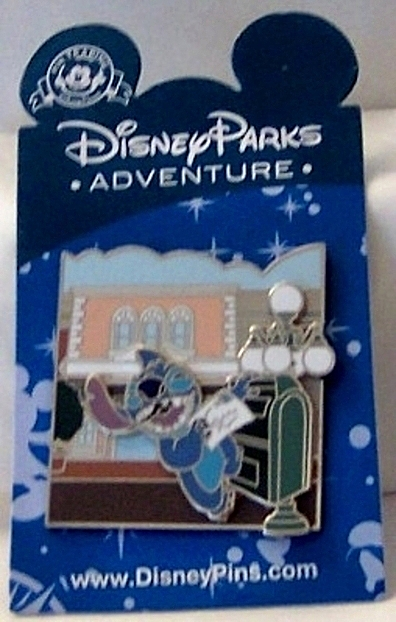 Disney Parks Adventure Series Stitch Main St Opera House Pin New On Card Front