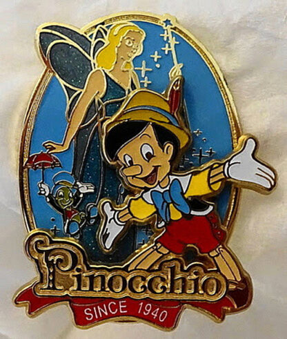Disney Pinocchio Since 1940 75th Anniversary LE 2000 Pin New Front