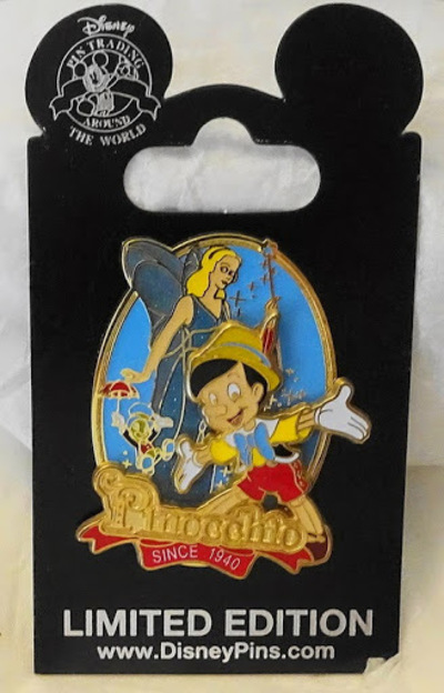 Disney Pinocchio Since 1940 75th Anniversary LE 2000 Pin New On Card Front