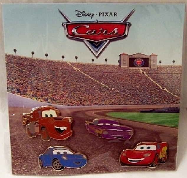 Disney Pixar Radiator Springs Cars LE 350 Pin Set 4-Pc. New On Scenic Backing Card Front