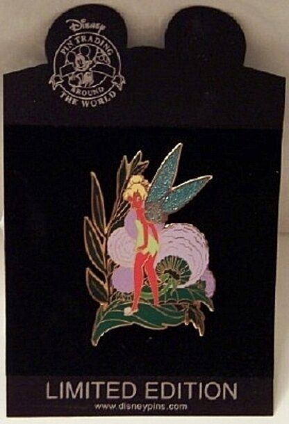Disney Red Tinker Bell On Leaf LE 500 Jumbo Pin New On Card Front