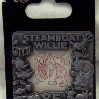 Disney Steamboat Willie 85th Anniversary LE 2500 Pin New On Card Front