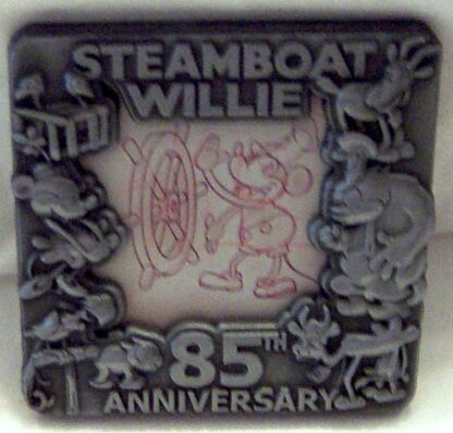 Disney Steamboat Willie 85th Anniversary LE 2500 Pin New Front