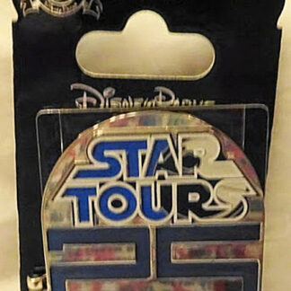 Disney WDW Star Tours 25th Anniversary LE Hinged Pin New On Card Front