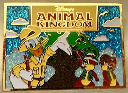 Donald Chip 'n' Dale Postcard Pin Disney Passholder New Front Closed