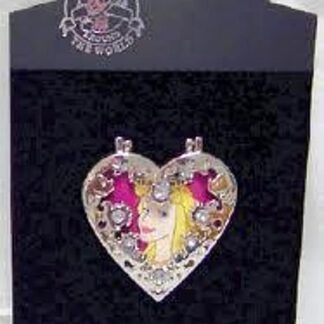 DISNEY SLEEPING BEAUTY AURORA JEWELED HINGED LE 300 PIN New On Card Front
