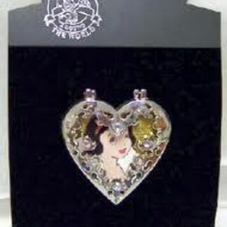 DISNEY SNOW WHITE JEWELED HINGED LE 300 PIN New On Card Front