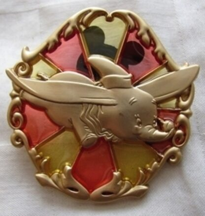Disney WDW 2013 Annual Passholder New Fantasyland Stained Glass Dumbo Pin New Front