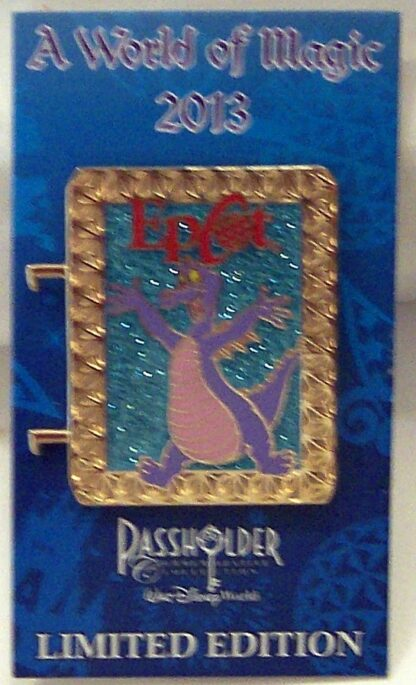 Disney WDW Figment Passholder A World Of Magic 2013 LE 2500 Pin New On Card