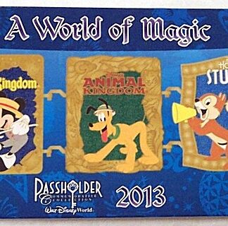 Disney WDW Mickey Minnie Passholder A World Of Magic 2013 Pin New On Card Front