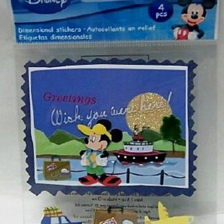 DISNEY TOURIST MICKEY TRAVEL DIMENSIONAL STICKERS FRONT