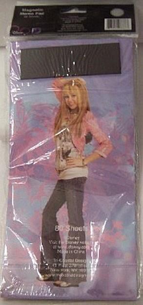 Disney Hannah Montana Miley Cyrus Magnetic Memo Pad Back