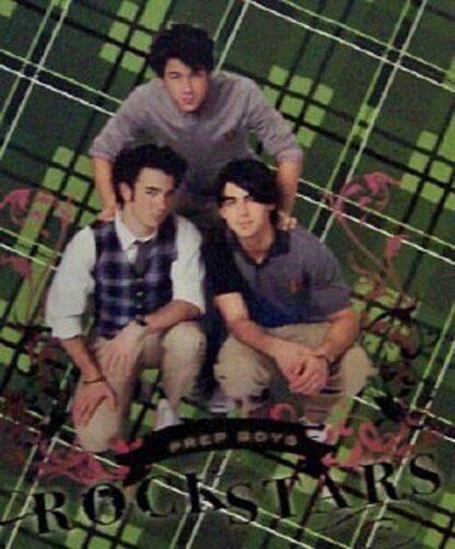 Disney Jonas Brothers Green Journal Front Closeup