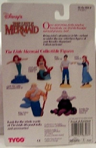 Disney Little Mermaid Ariel Collectible Tyco Figure Back