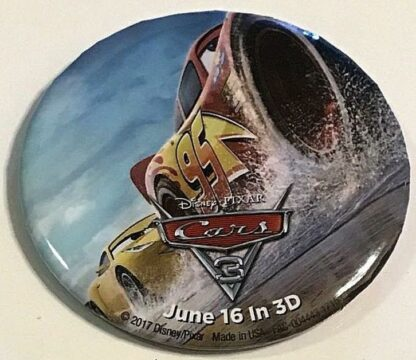Disney Pixar Cars 3 June 16 In 3D Button New Front
