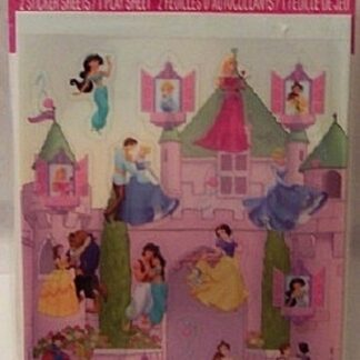 Disney Princess Stickeroni 2 Sticker Sheets 1 Play Sheet New Front