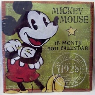 Disney Retro Mickey Mouse 16 Month 2011 Calendar New Front