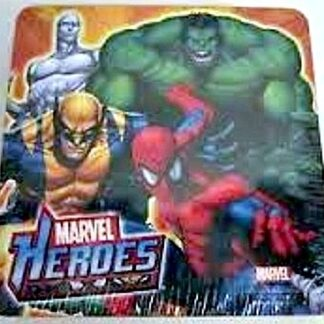 Marvel Heroes Spider-Man Hulk Wolverine Silver Surfer 6 Coasters Front