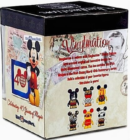 Disney Vinylmation Celebrating 40 Years Of Magic WDW Figure New In Box Side + Back