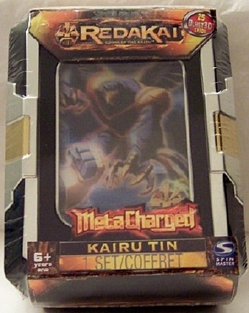 Redakai Meta Charged Ultimate Kairu Tin With 25 Blast 3D Cards New Front