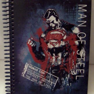 Superman Man Of Steel DC Comics Spiral Notebook 100 Sheets New Front