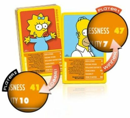 Top Trumps The Simpsons Classic Collection Vol. 1 Card Game New Stock Photo Cards
