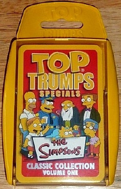 Top Trumps The Simpsons Classic Collection Vol. 1 Card Game New Front