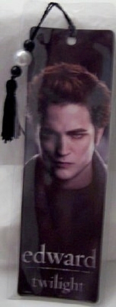Twilight Edward Cullen Robert Pattinson Hero Beaded Tassel Bookmark New Sealed In Plastic Front