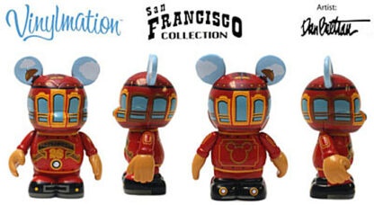 Disney Vinylmation San Francisco Red Trolley 3'' Figure New Stock Photo Out Of Box 4 Views