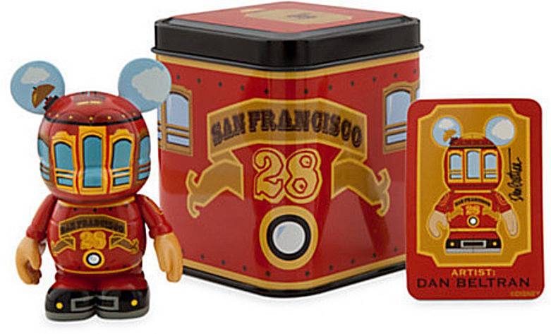 Disney Vinylmation San Francisco Red Trolley 3'' Figure New Stock Photo Open Front