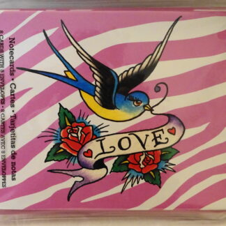 Ed Hardy Love Bird & Roses Blank Note Cards #8 NIP Front