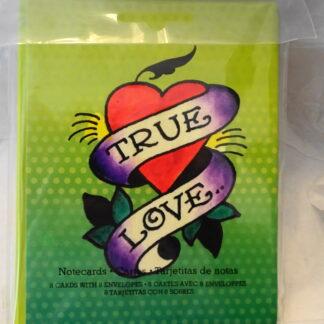 Ed Hardy True Love Blank Note Cards #8 NIP Front
